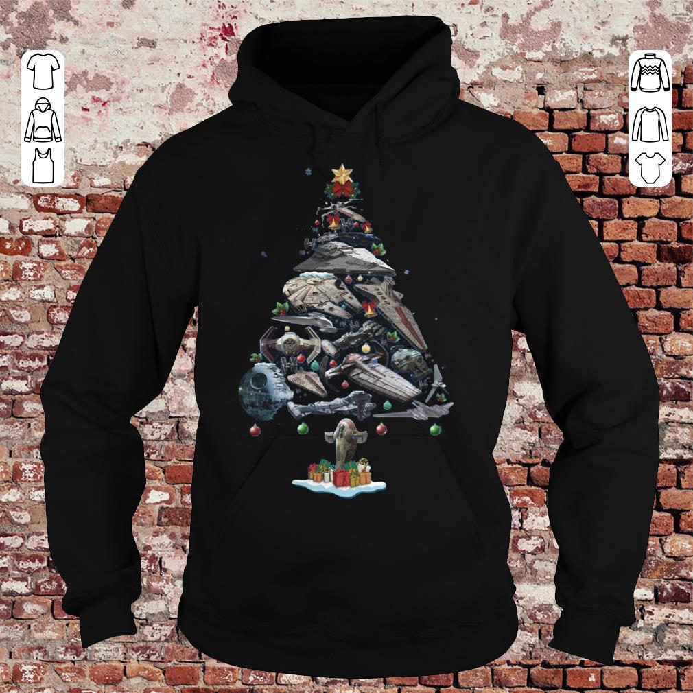 Spaceship Christmas Tree shirt Hoodie
