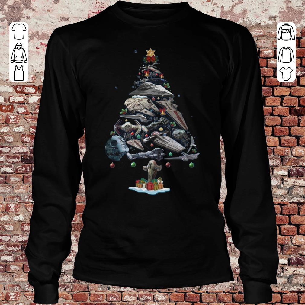 Spaceship Christmas Tree shirt Longsleeve Tee Unisex