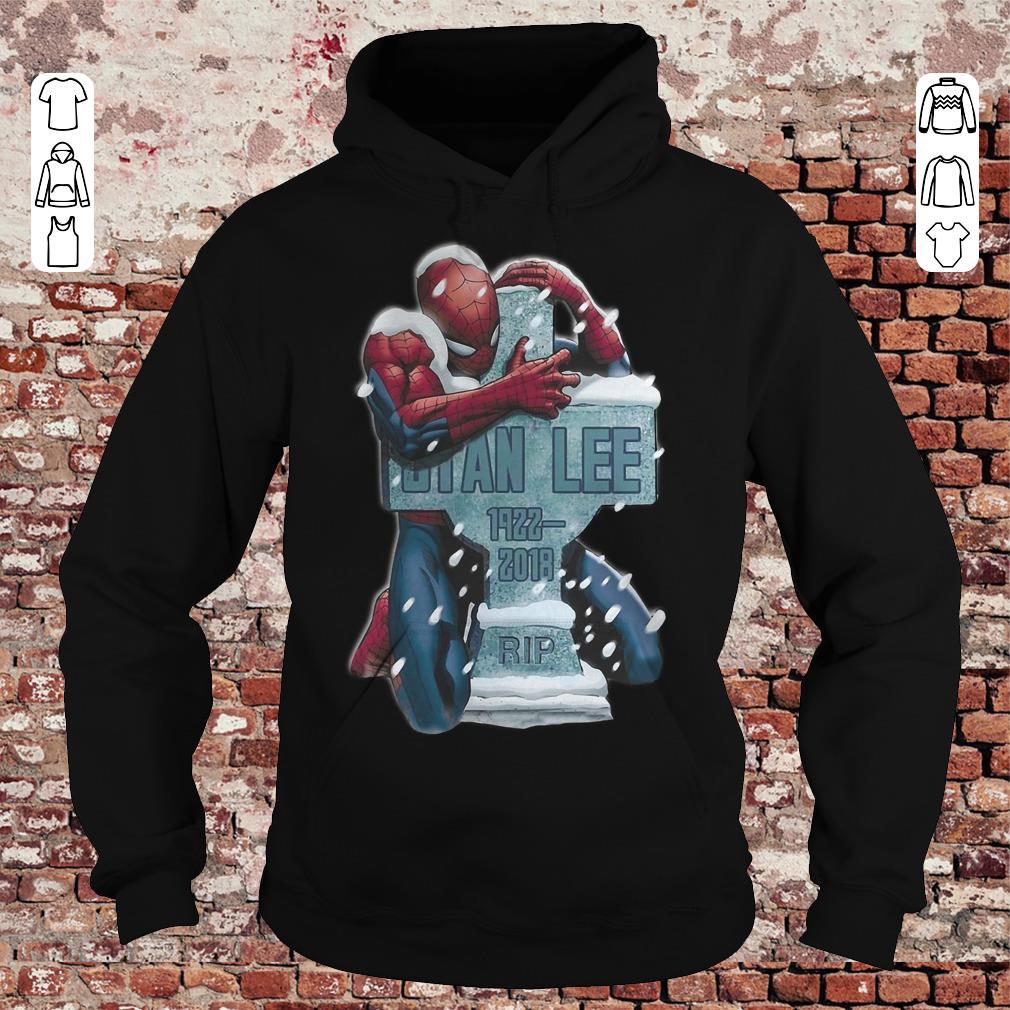 Spider Man hug grave Stan Lee shirt Hoodie