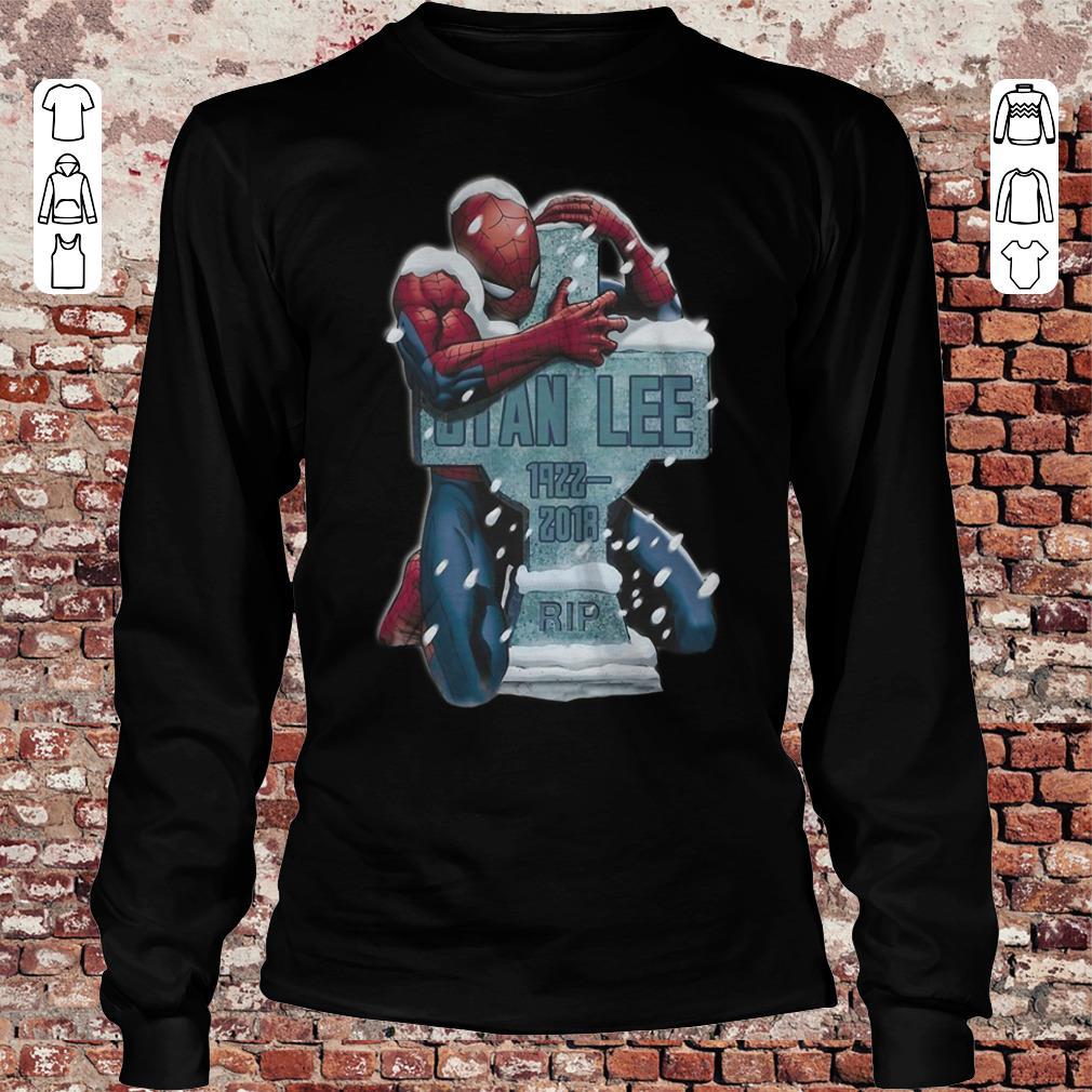 Spider Man hug grave Stan Lee shirt Longsleeve Tee Unisex