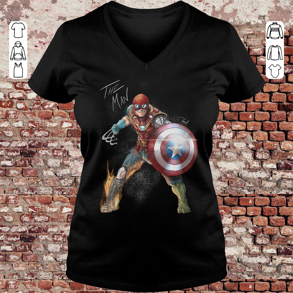 Stan Lee One with his universe shirt Ladies V-Neck