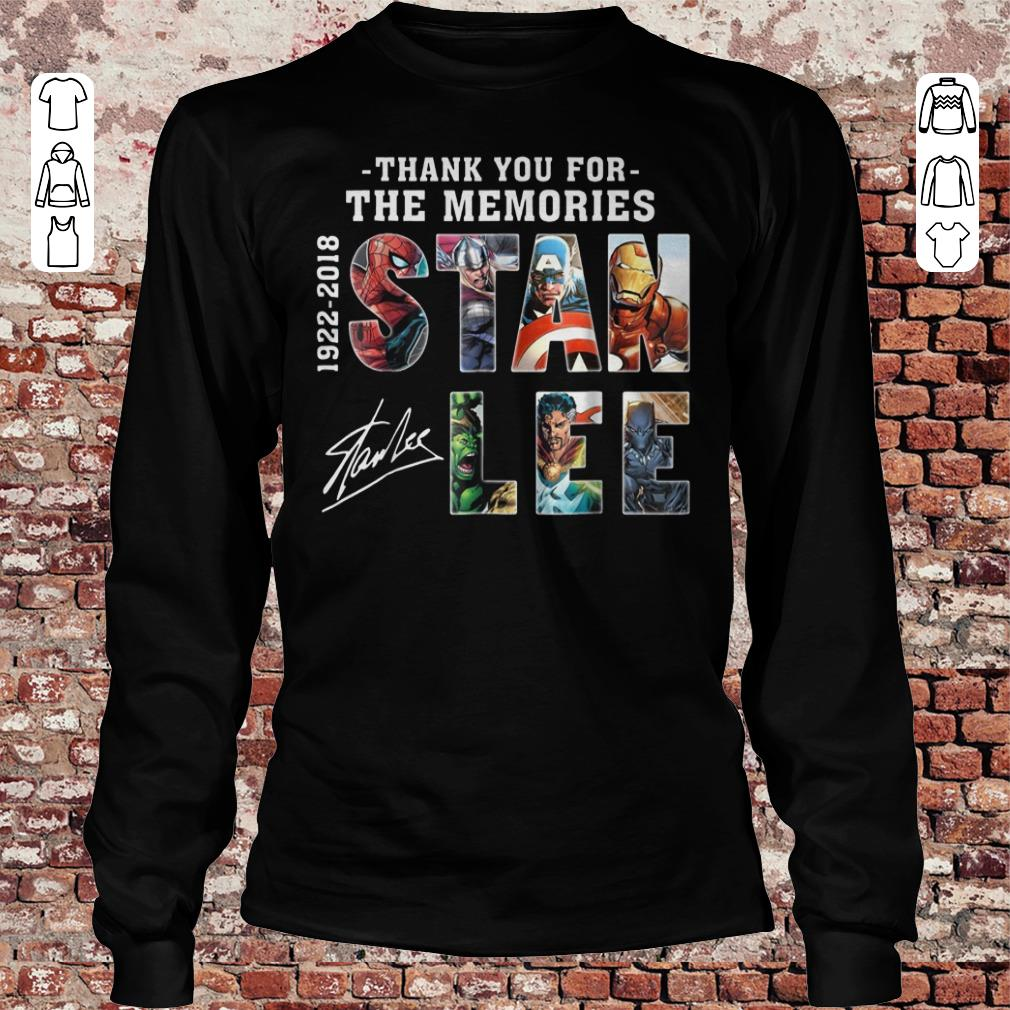 Stan Lee Text Graphic Thank you for the memories shirt Longsleeve Tee Unisex