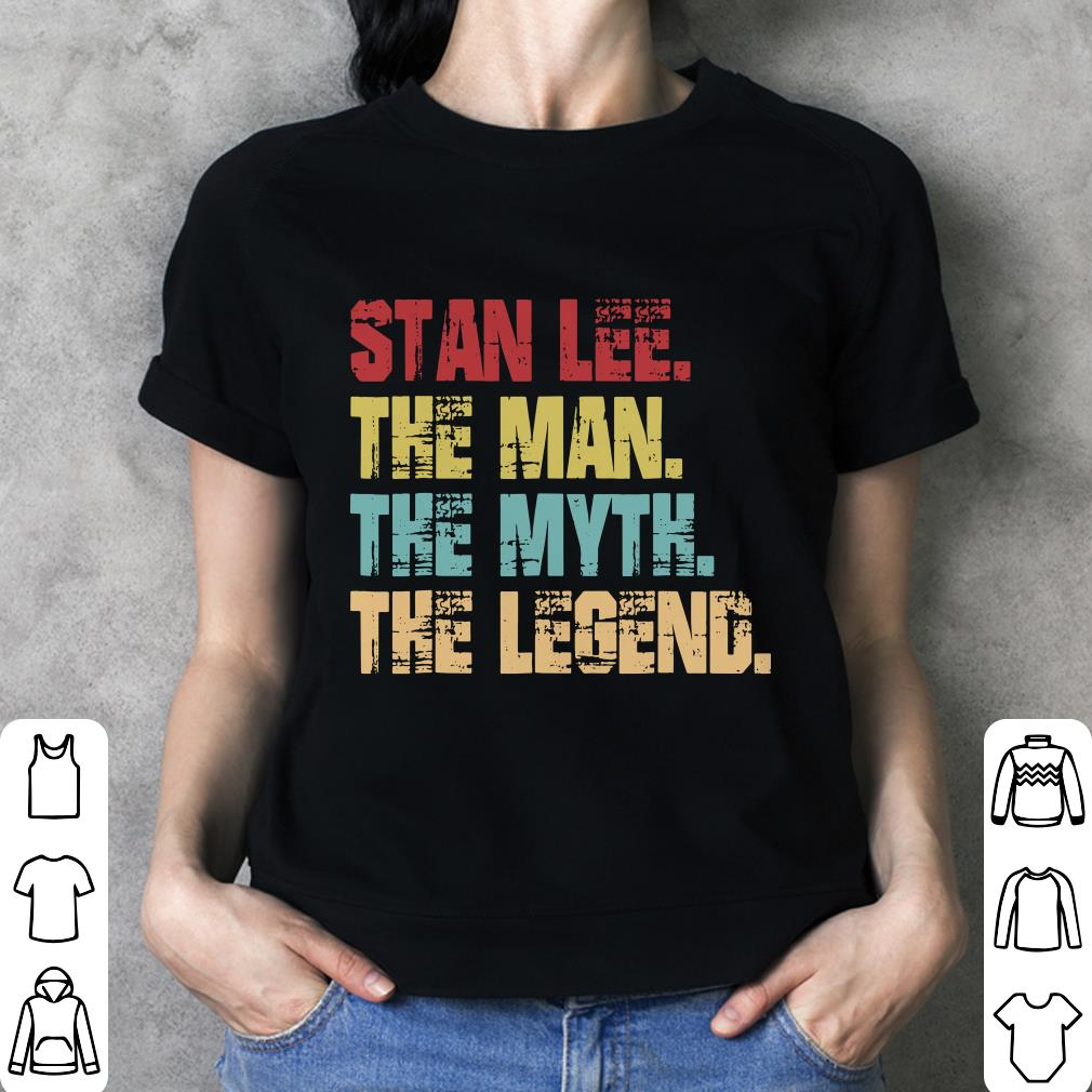 Stan Lee The Man The Myth The Legend shirt 3