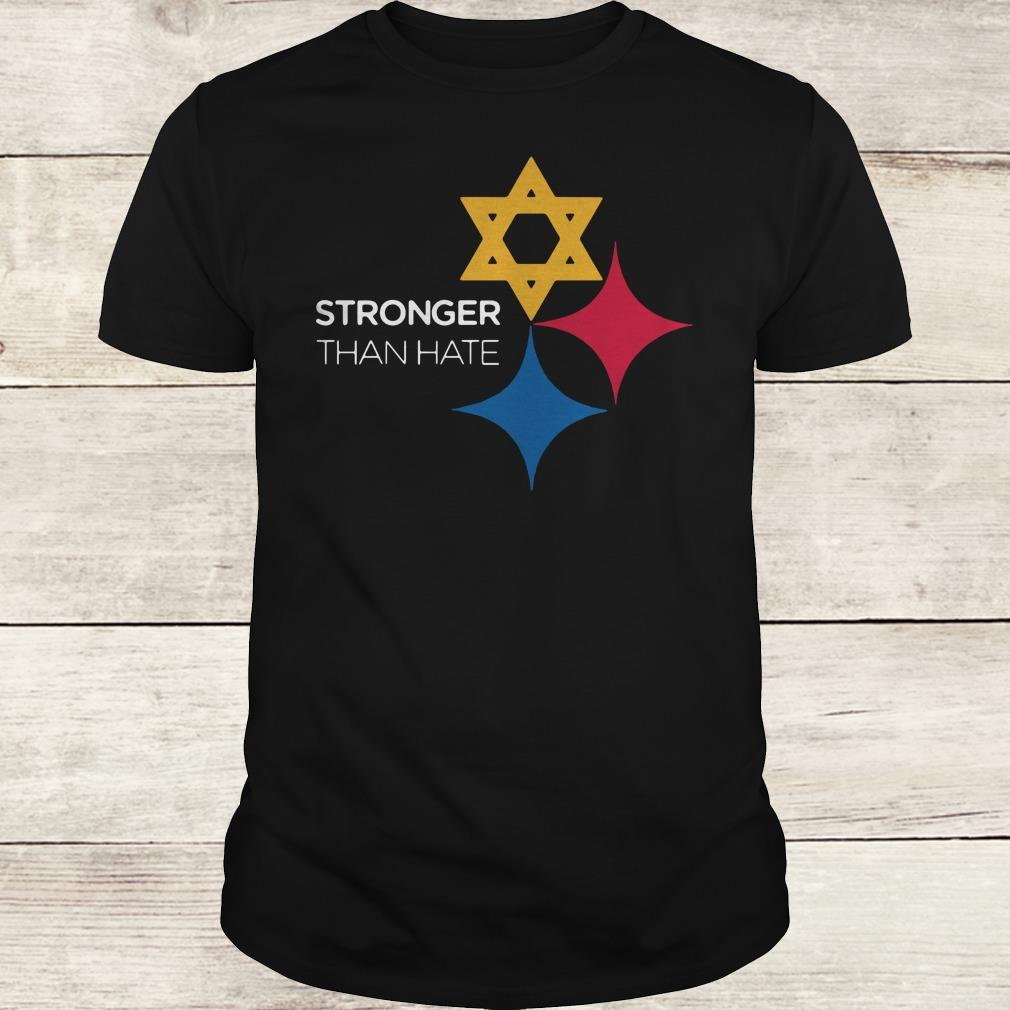 Steeler Stronger Than Hate Pittsburgh NFL shirt Classic Guys / Unisex Tee