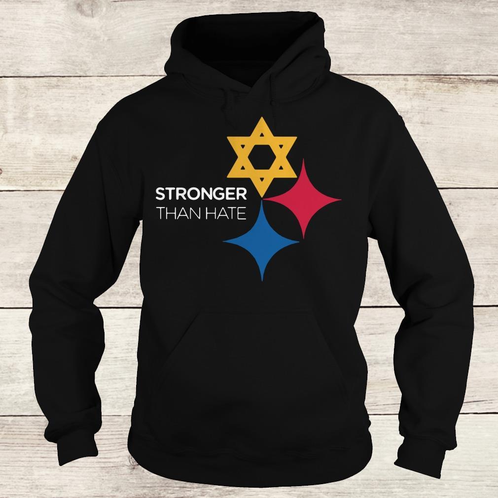 Steeler Stronger Than Hate Pittsburgh NFL shirt Hoodie