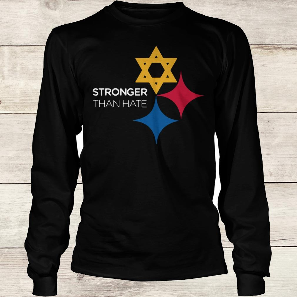 Steeler Stronger Than Hate Pittsburgh NFL shirt Longsleeve Tee Unisex