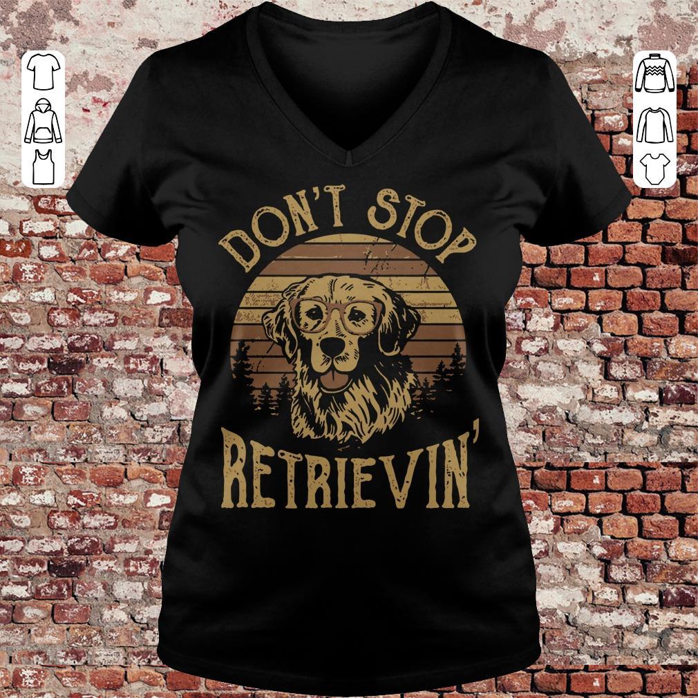 Sunset Don't stop retrievin shirt Ladies V-Neck