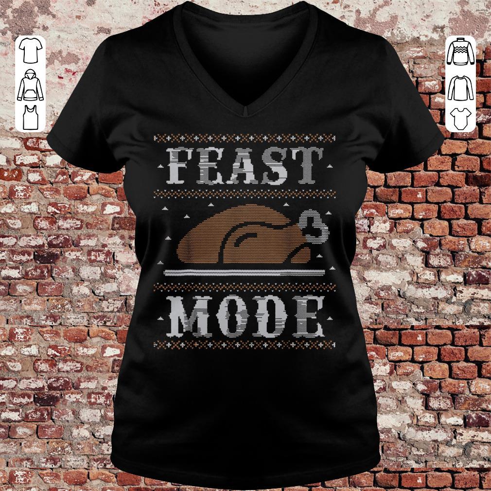 Thanksgiving Feast Mode sweater shirt Ladies V-Neck