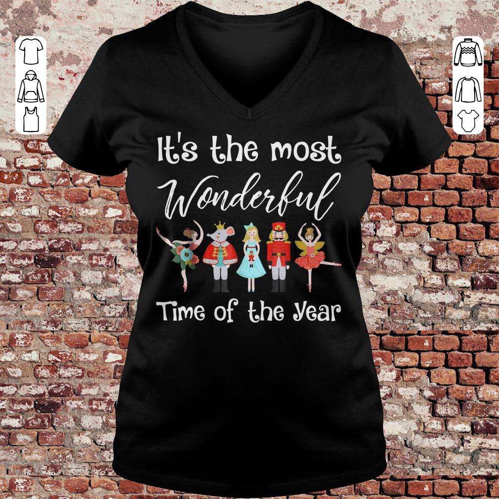 The Nutcracker Ballet Dance It's the most wonderful time of the year shirt Ladies V-Neck