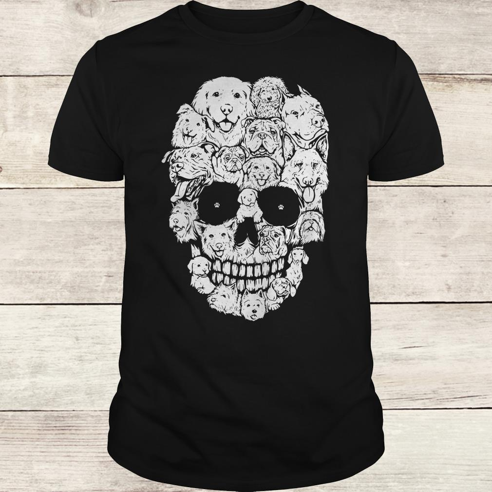 The best Boy Dogs stacked into skull shirt Classic Guys / Unisex Tee
