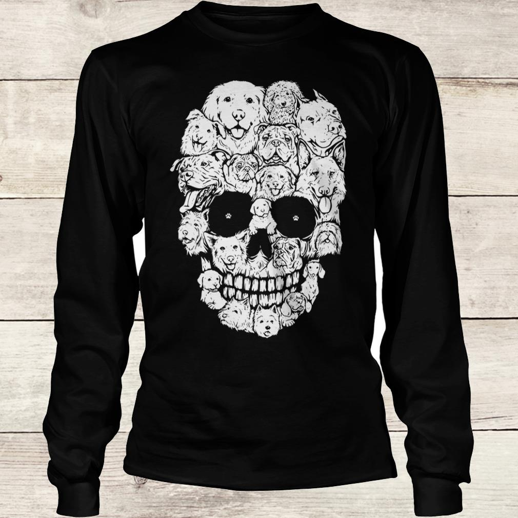 The best Boy Dogs stacked into skull shirt Longsleeve Tee Unisex