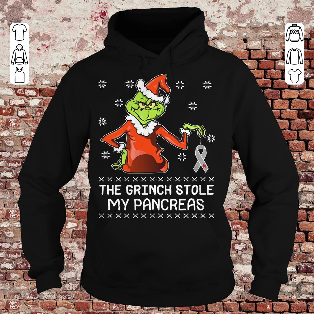 The grinch stole my pancreas Breast Cancer shirt Hoodie