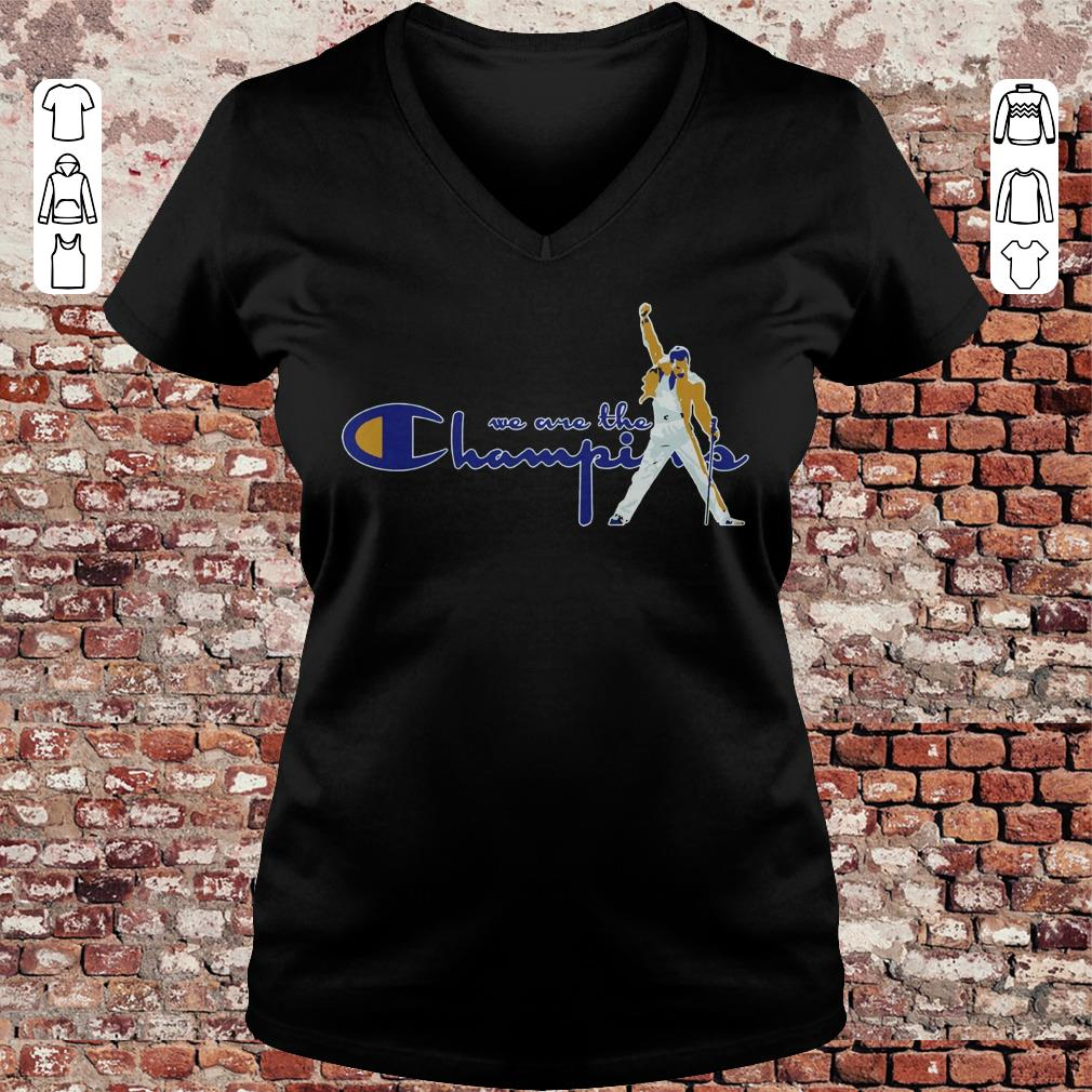 We are the Champions Freddie Mercury shirt Ladies V-Neck