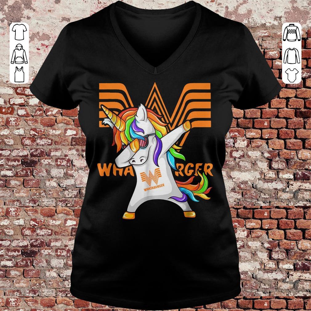 Whataburger Unicorn Dabbing shirt Ladies V-Neck