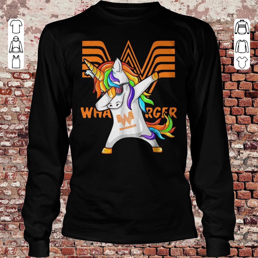 Whataburger Unicorn Dabbing shirt Longsleeve Tee Unisex