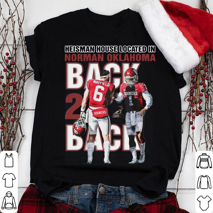 280ff20f0d5 Baker Mayfield Heisman house located in Norman Oklahoma Sooner Bred shirt