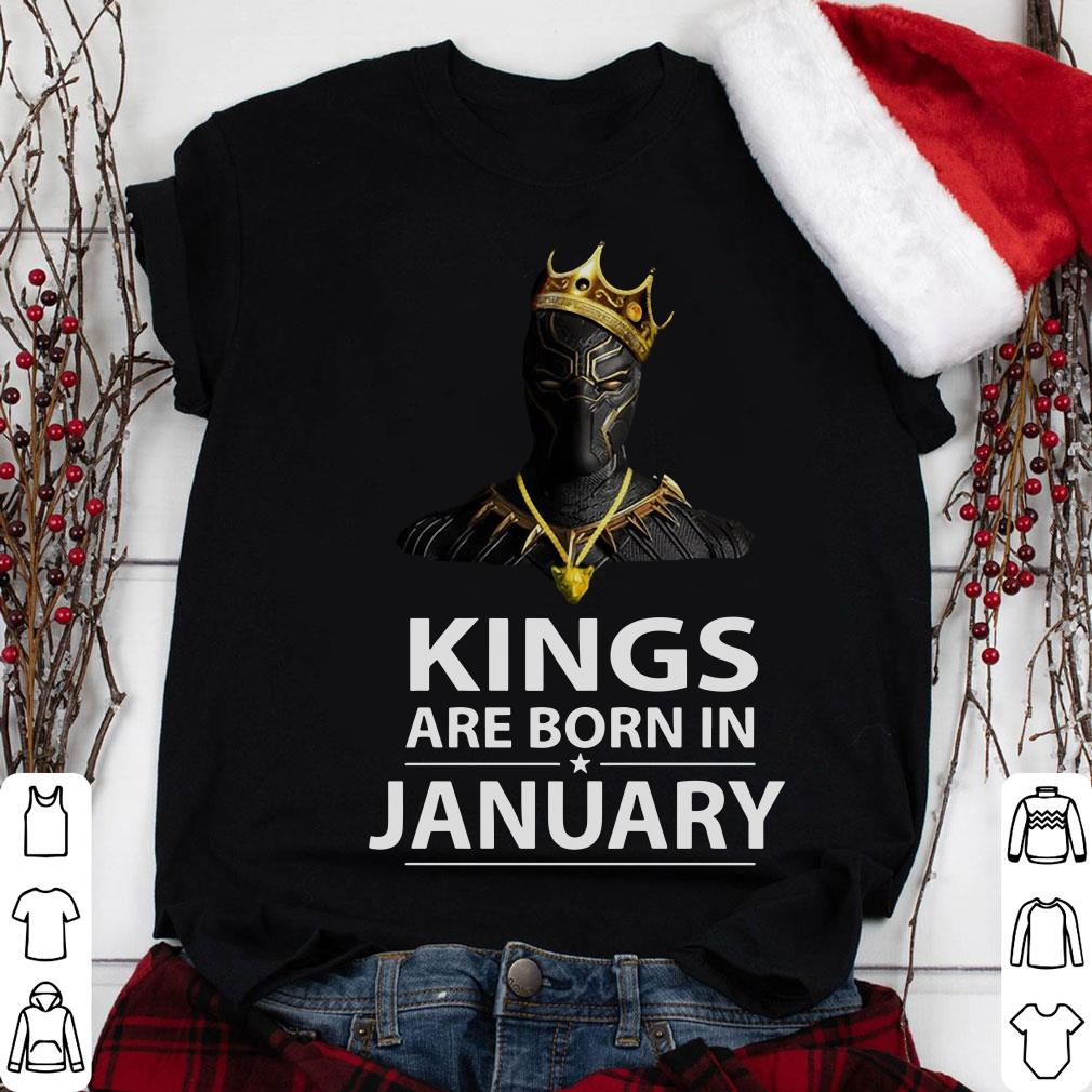 Black Panther Kings are born in January shirt
