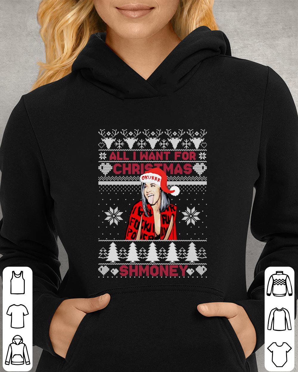 https://unicornshirts.net/images/2018/12/Cardi-B-All-i-want-for-christmas-is-shmoney-shirt_4.jpg