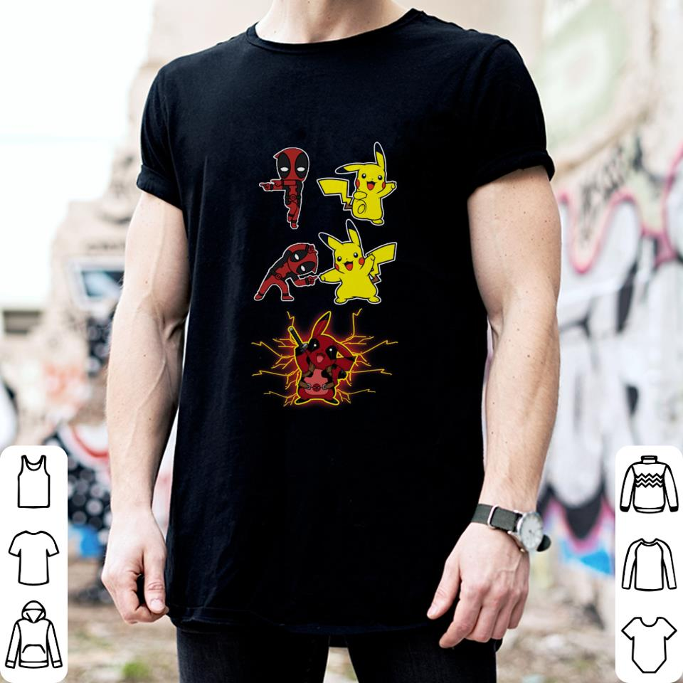 6a8fad82a Deadpool fusion Pikachu become Pikapool shirt Deadpool fusion Pikachu  become Pikapool shirt