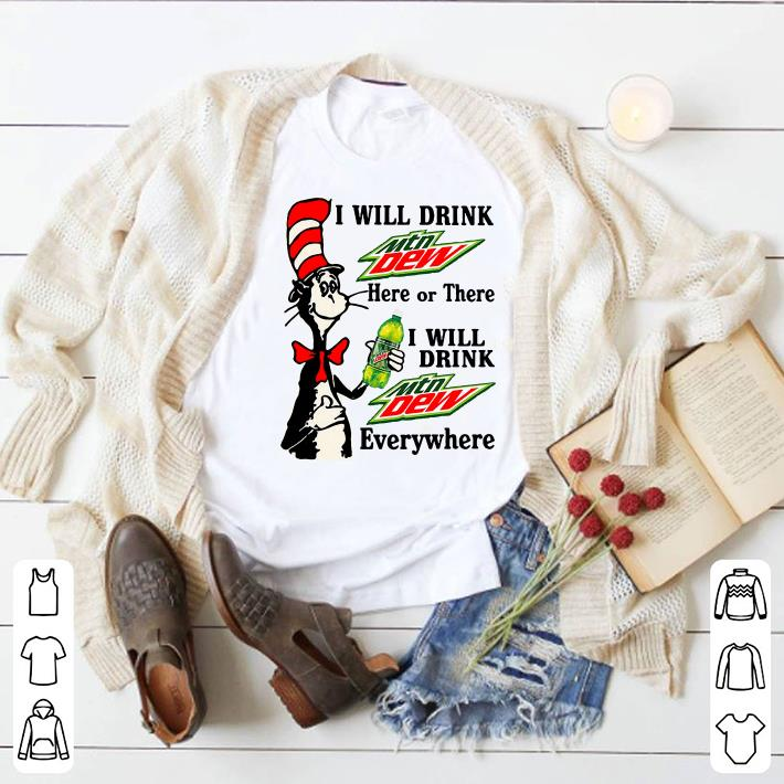 Clickbuypro Unisex Tshirt Dr Seuss I Will Drink Mtn Dew Here Or There Everywhere Shirt Hoodie Red Xl