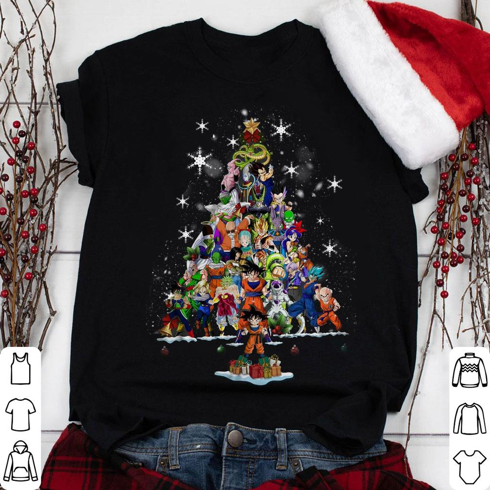 Dragon Ball Characters Christmas Tree shirt 1