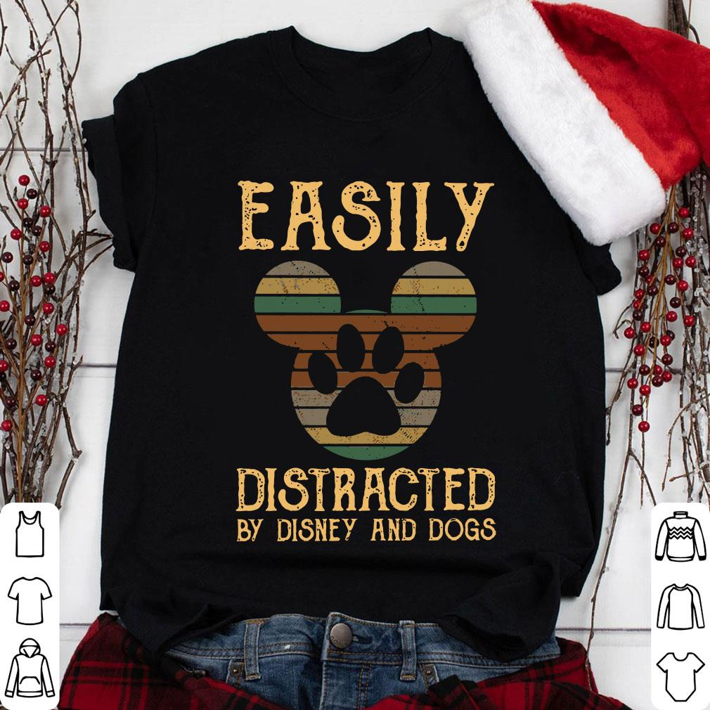Clickbuypro Unisex T-shirt Easily Distracted By Disney And Dogs Shirt Sweater Navy 4xl