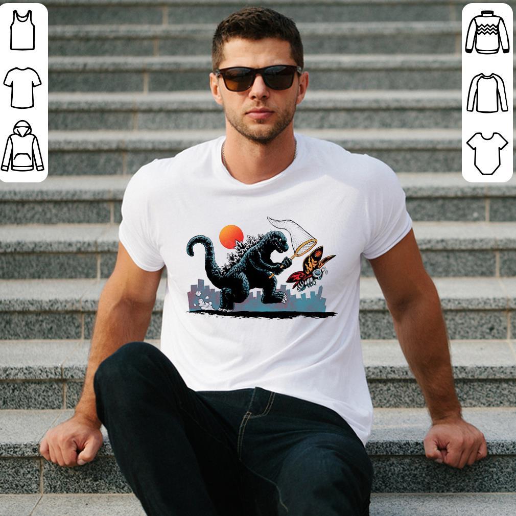 Godzlla Nets Mothra shirt