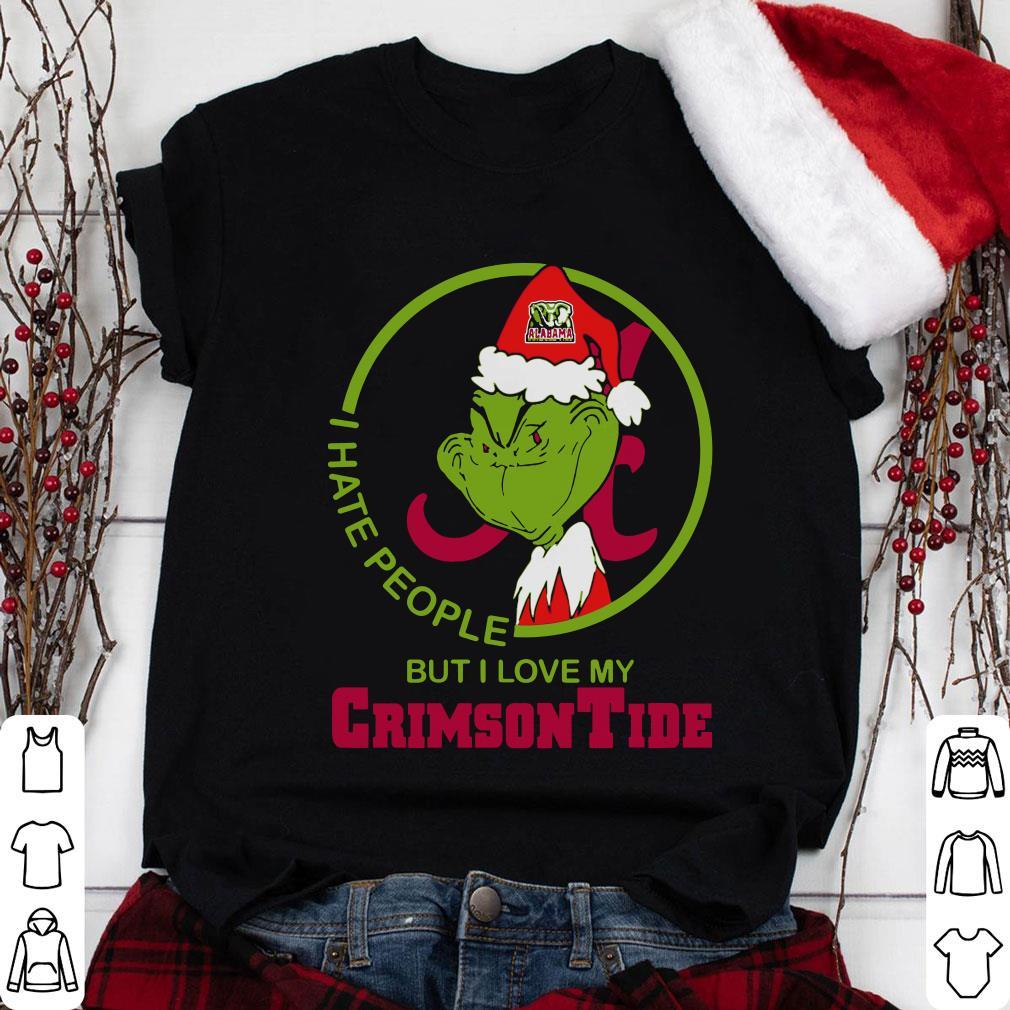 Grinch Alabama I hate people but i love my Crimson Tide shirt