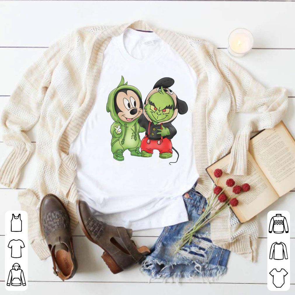 Grinch and Mickey Mouse shirt 1