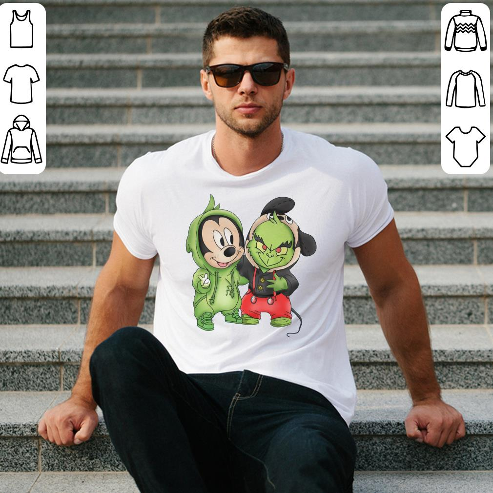 Grinch and Mickey Mouse shirt 2