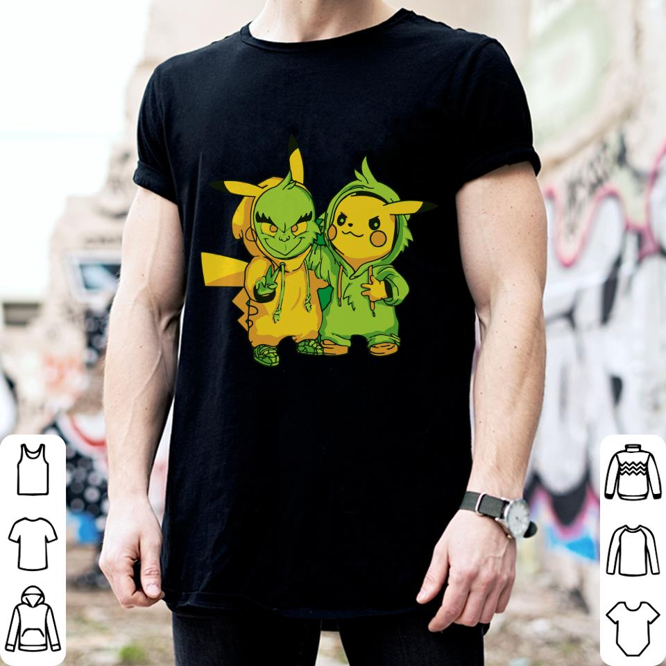 Grinch and Pikachu shirt