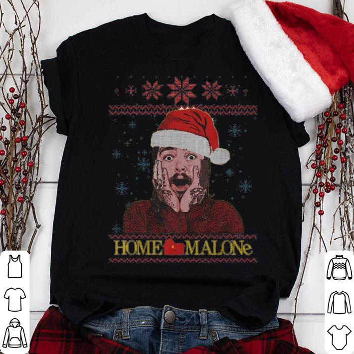 Home Malone Funny Post Malone Ugly Christmas Sweater shirt