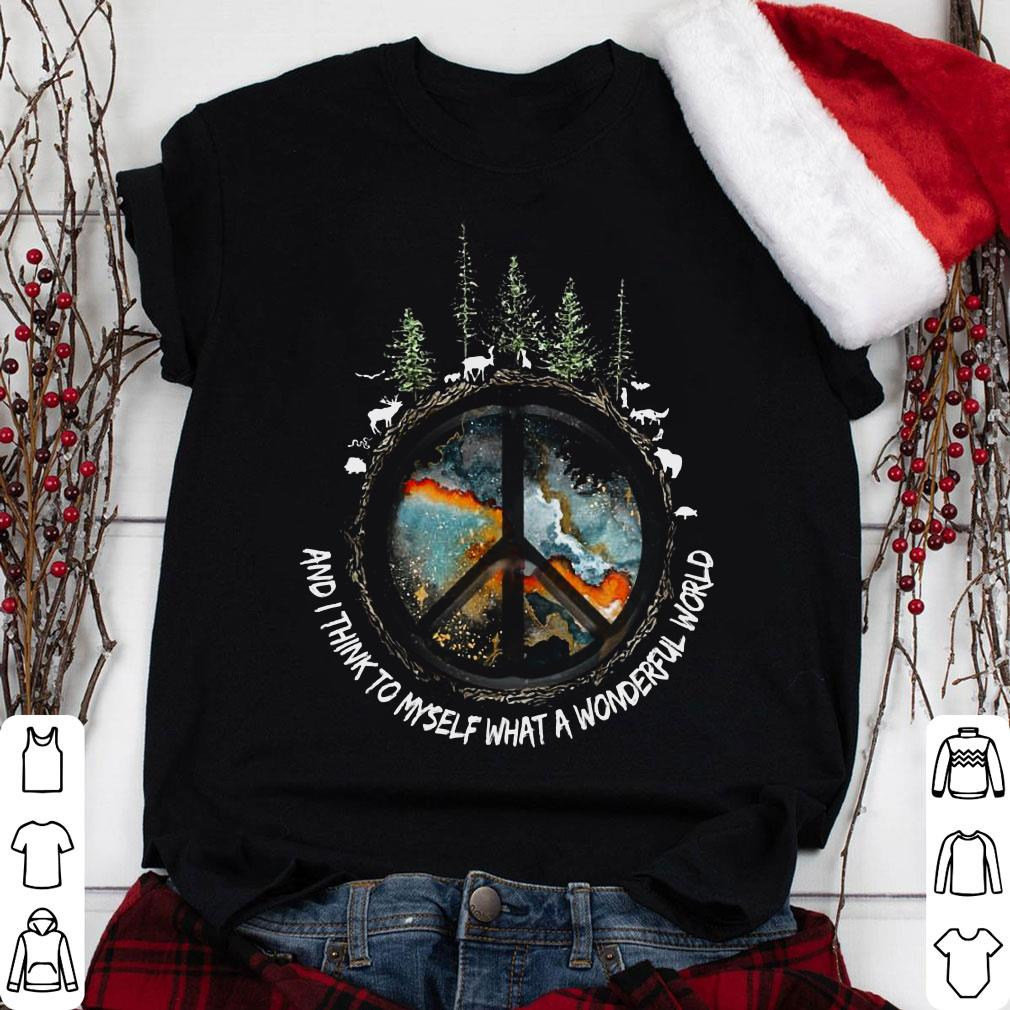 Imagine and i think to myself what a wonderful world shirt 1