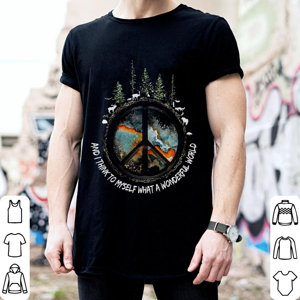 Imagine and i think to myself what a wonderful world shirt 2