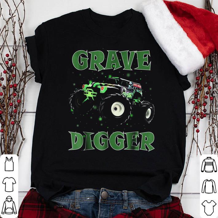 Monster Truck Grave Green Digger Racing shirt 1