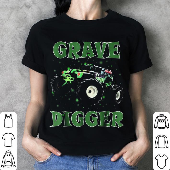 Monster Truck Grave Green Digger Racing shirt 3