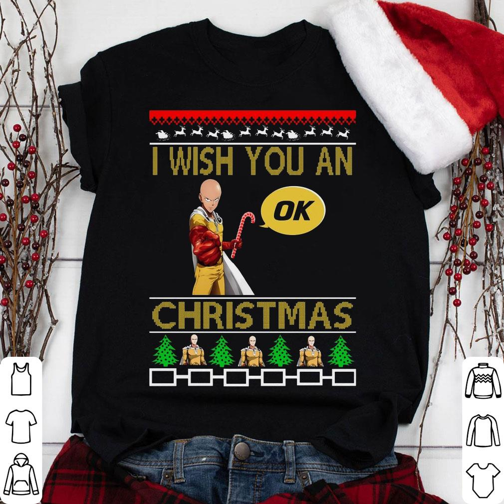 Saitama I Wish You An Ok Christmas shirt