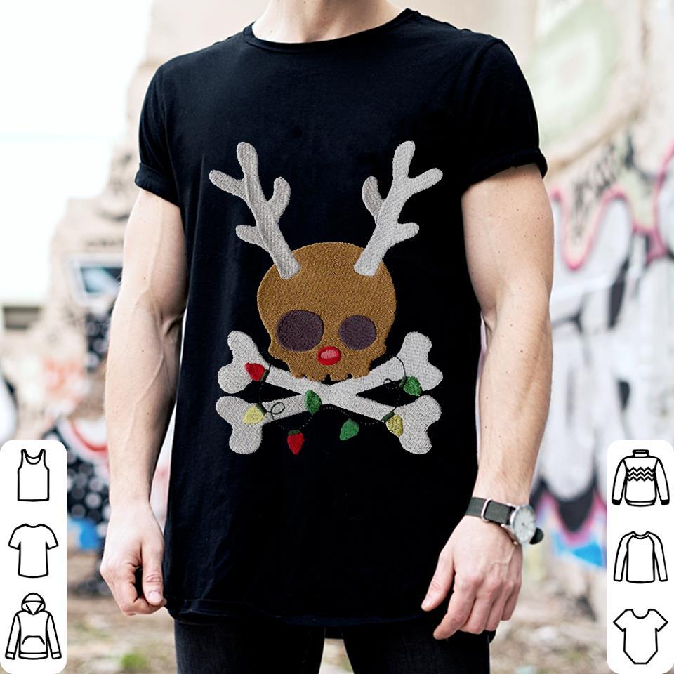 Skull reindeer Jolly Roger shirt