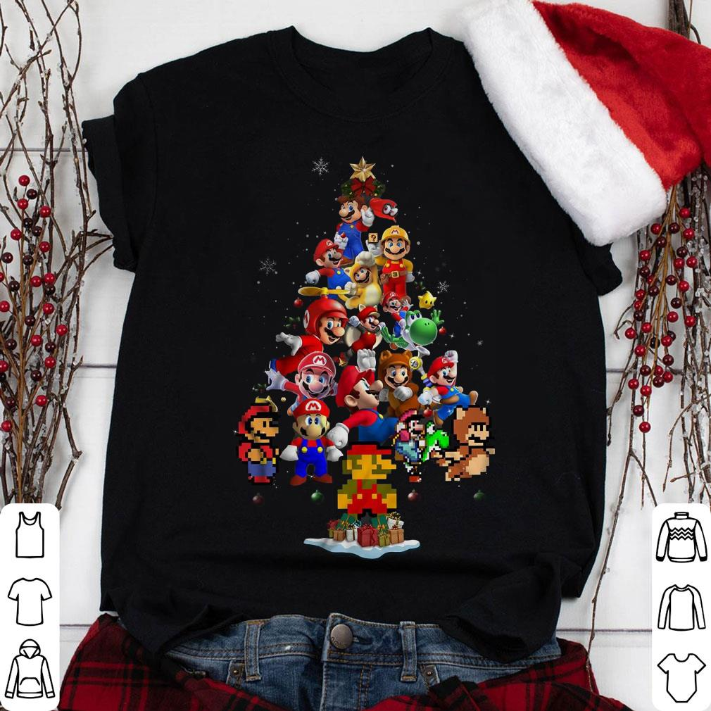 Super Mario Christmas Tree shirt