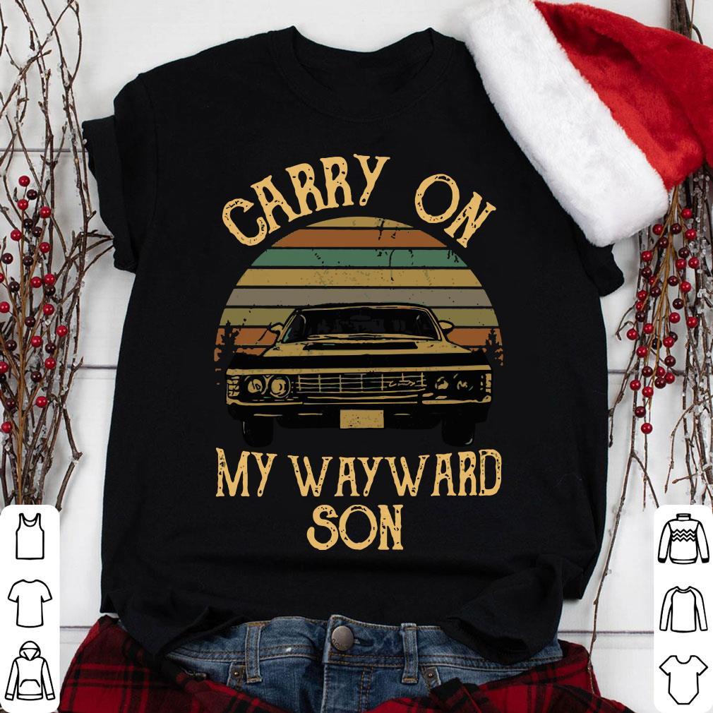 Supernatural Carry on my wayward son Vintage Retro Sunset Version shirt