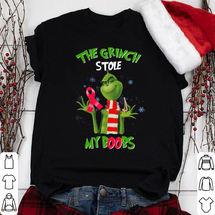 The Grinch stole my boobs shirt 1