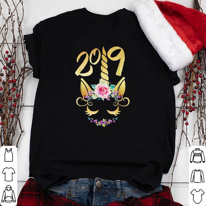 Unicorn flower 2019 Happy New Year shirt
