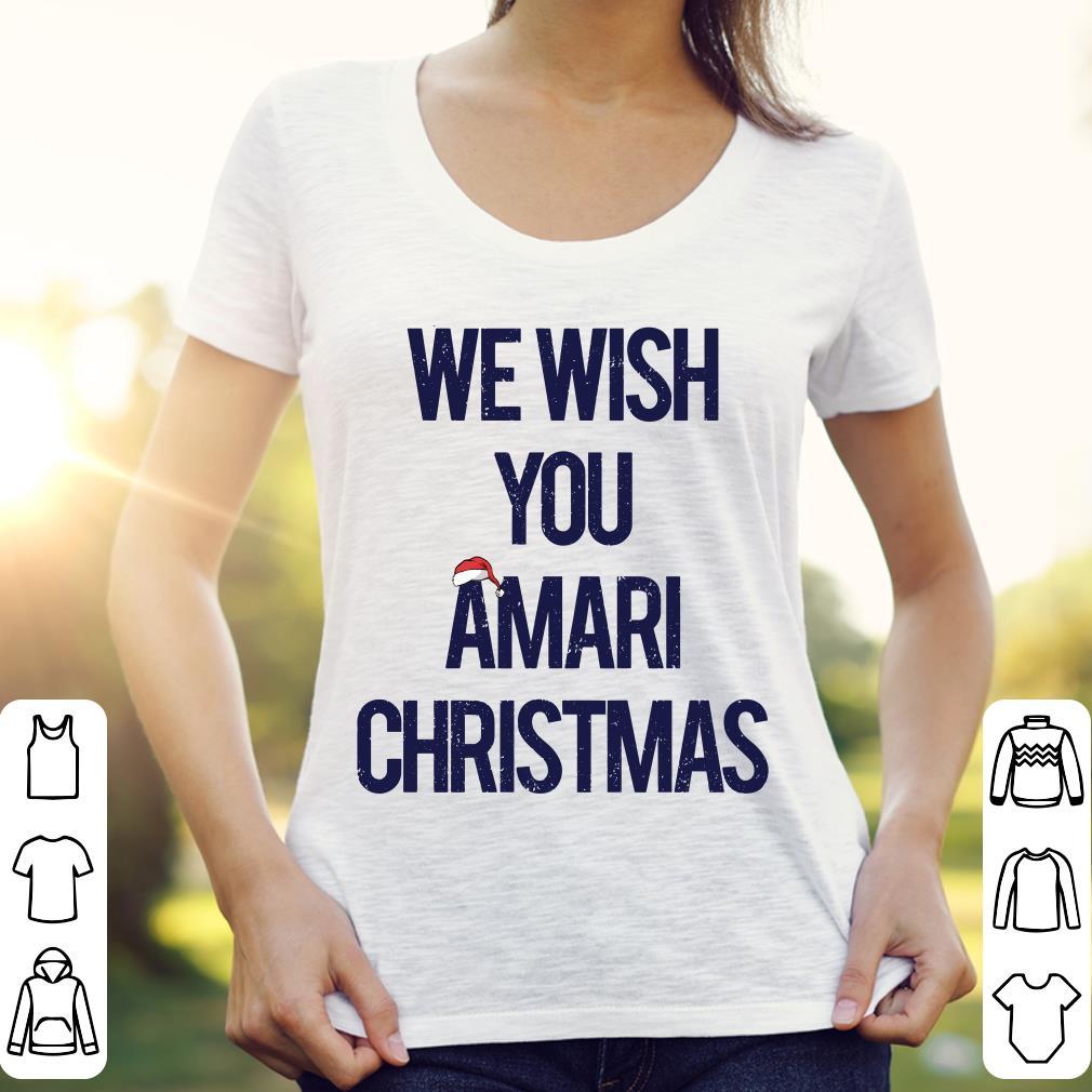 We wish you amari christmas shirt 3