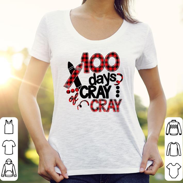 100 days cray cray 100th days school shirt