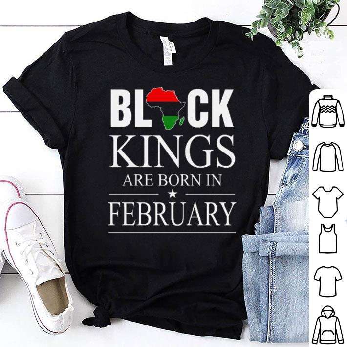 Africa Black kings are born in February shirt