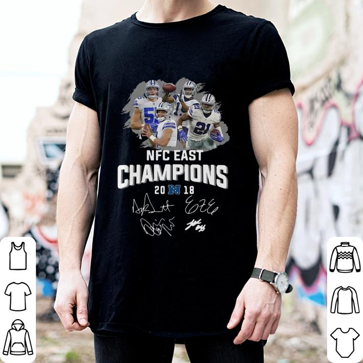 Dallas Cowboys players NFC East champions 2018 signature shirt