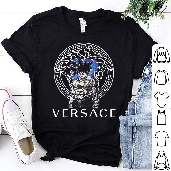 Dragon Ball Super Son Goku Ultra instinct Versace shirt