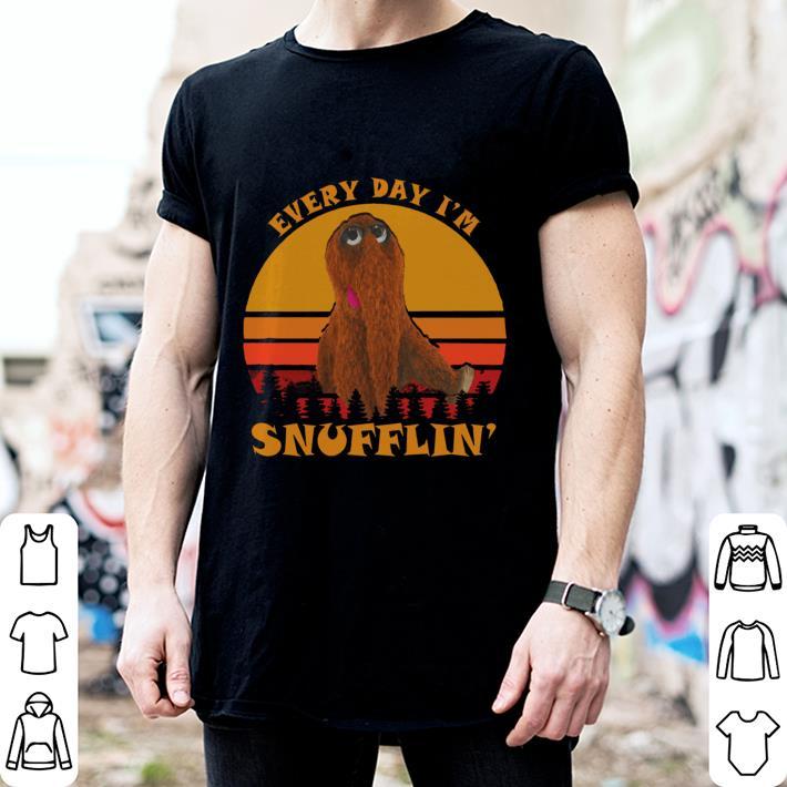 Everyday I'm Snufflin' sunset retro shirt
