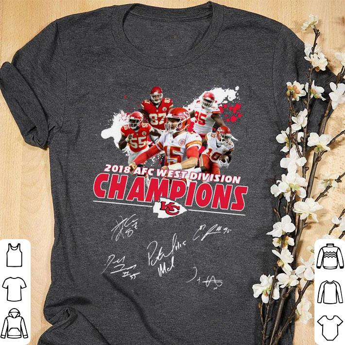Clickbuypro Unisex Tshirt Kansas City Chiefs 2018 Afc West Division Champions Signature Shirt Hoodie Black S