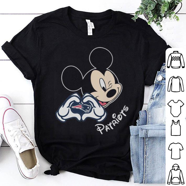 New England Patriots football with Mickey mouse love shirt